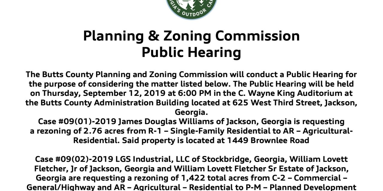 📣 Notice of Public Hearings on Zoning